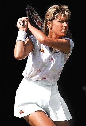 Beyond her image, Chris Evert dominated the women's tennis scene for close to 20 years despite stiff opposition from the likes of Billie Jean King, Evonne Goolagong, Pam Shriver and Steffi Graf. Her arch rival Martina Navratilova seemed to be the only player to cause her headaches