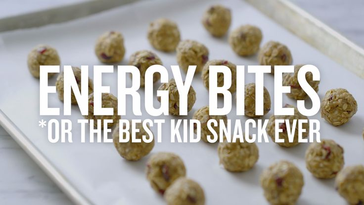 Your kids spend the day running from math class to ballet to soccer and then back home for homework. And they need a snack, stat. These no-bake bites are packed with all kinds of good stuff to give your little ones the energy they need to tackle the day. And with just five healthy ingredients (oats, dried cranberries, ground flax seeds, honey and SunButter), making them is as easy as mixing everything in a bowl and rolling them up. Now, who's ready for piano practice?