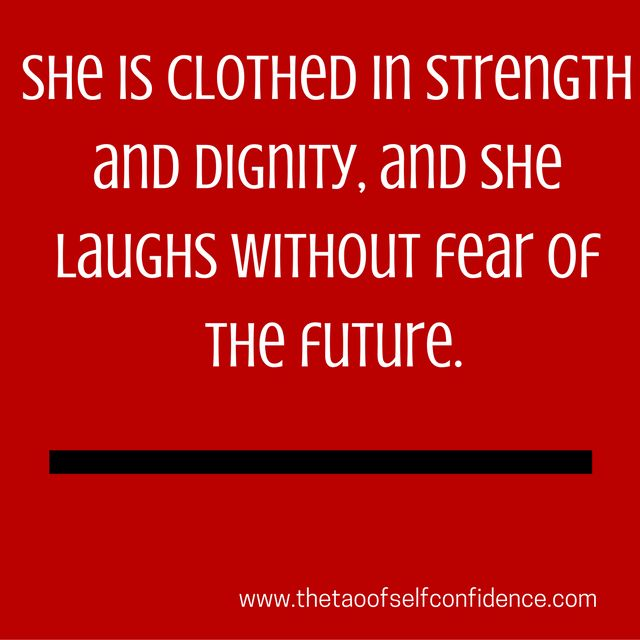 She Is Clothed In Strength And Dignity And She Laughs