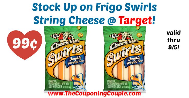 WOW!!! This is definitely a deal worth picking up this week through 8/5! Frigo Swirls String Cheese ONLY 99¢ @ Target!  Click the link below to get all of the details ► http://www.thecouponingcouple.com/frigo-swirls-string-cheese-only-99%c2%a2-target/ #Coupons #Couponing #CouponCommunity  Visit us at http://www.thecouponingcouple.com for more great posts!