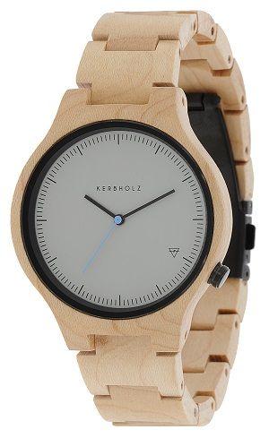 Modische Uhr aus Ahorn-Holz http://www.uhrcenter.de/uhren/kerbholz/uhren/kerbholz-lamprecht-ahorn-holzuhr/