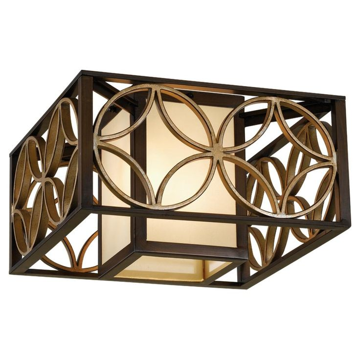 2- Light Indoor Flush Mount : FM330HTBZ/PGD | Richmond Hill | Living Lighting