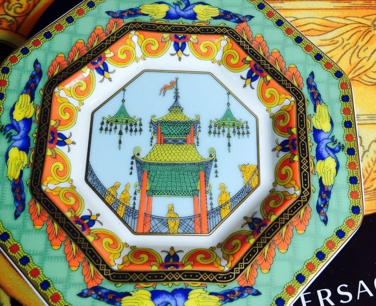 VERSACE LE VOYAGE MARCO POLO TRAY ROSENTHAL RETIRED SALE #Versace