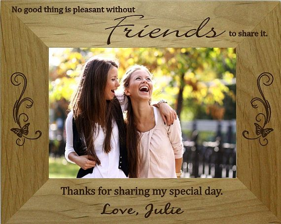Laser Engraved Personalized Best Friend Picture Frame 5x7 via Etsy