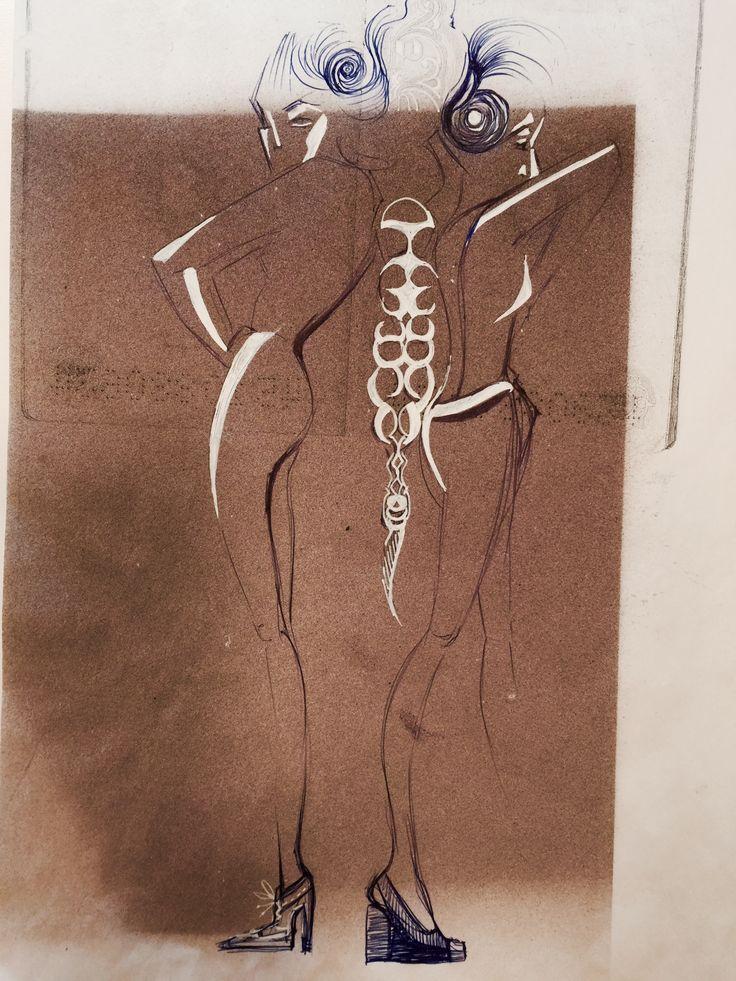 Sketch,sketchbook, fashion illustrator ,