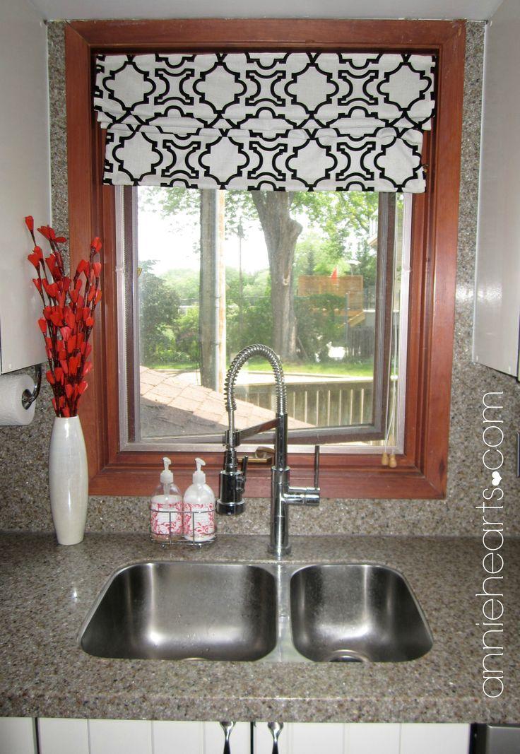 Black U0026 White Kitchen Window Treatment