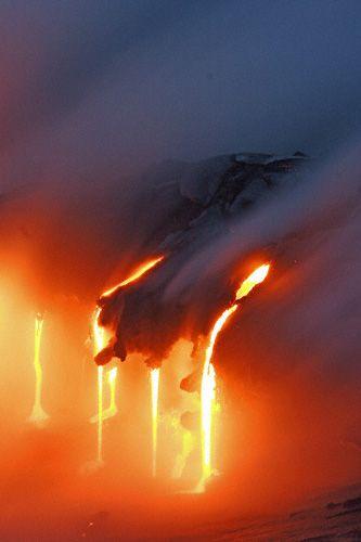 Lave, volcan Eyjafjallajökull, Islande