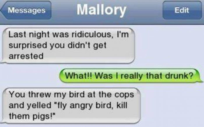 Funny drunk text - http://www.jokideo.com/