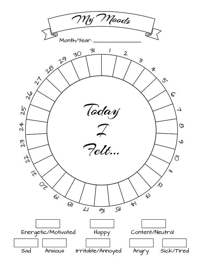 image regarding Bullet Journal Mood Tracker Printable called Pin upon Bullet magazine