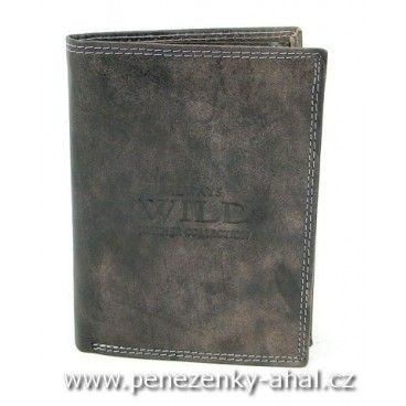 Pánská dokladovka kožená neobvyklé červené barvy. Do této peněženky uložíte i starou občanku.