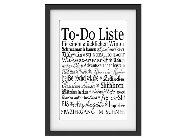ber ideen zu winter to do liste auf pinterest weihnachts to do liste eimer und. Black Bedroom Furniture Sets. Home Design Ideas