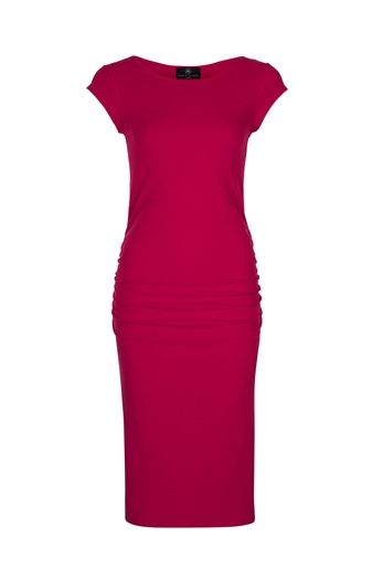 The Delicious Red Avalicious - Special Edition Maternity Dress from Bb London - for wedding guests with vavavoom