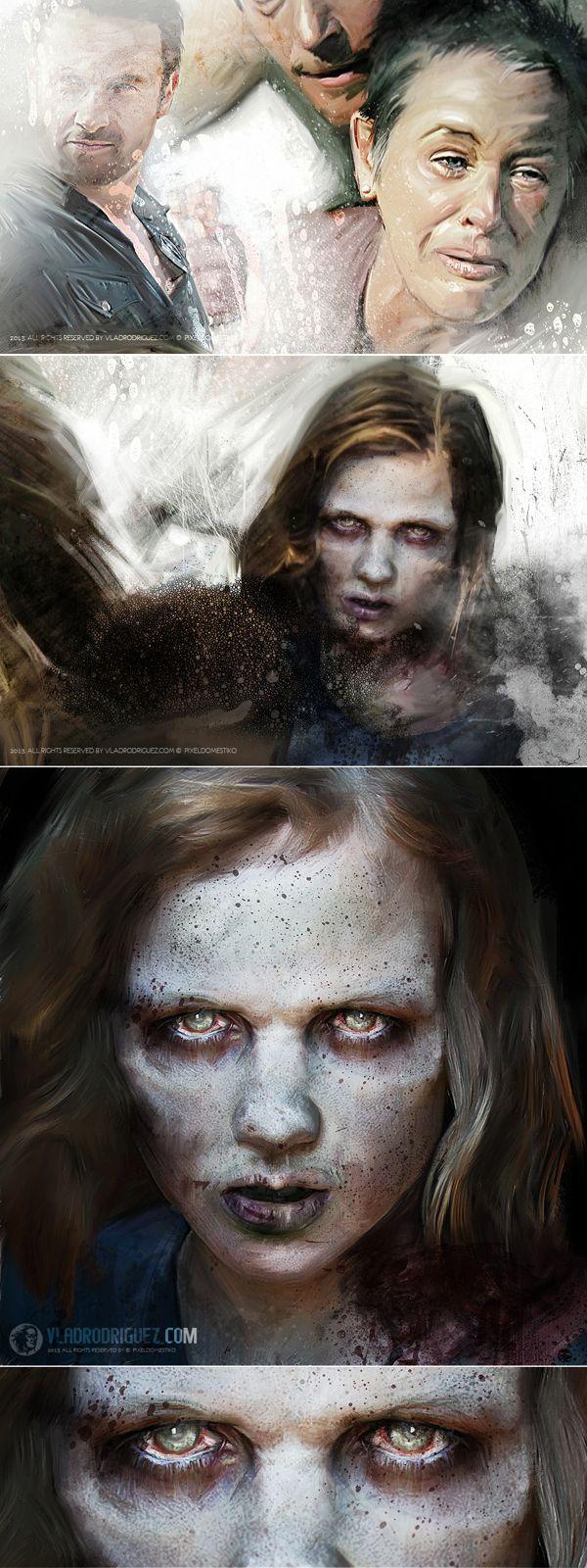 Talking Dead...Zombies Paint by Vlad Rodriguez, via Behance
