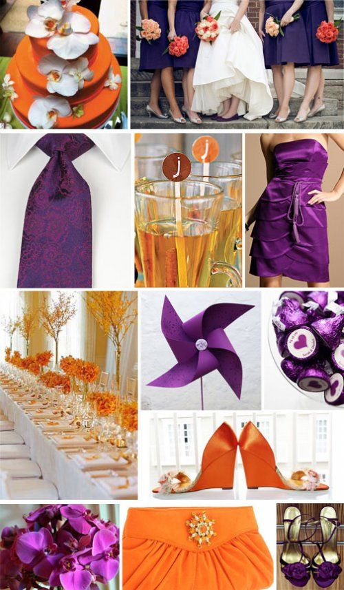 pruple and orange wedding invitations | African Pearl Bridal: Purple and Orange wedding theme