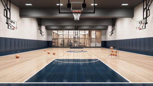 Pin By Jeffrey Dawson On Activities Center Home Basketball Court Luxury Rentals Soho Beach House