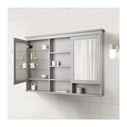 IKEA - HEMNES, Mirror cabinet with 2 doors,