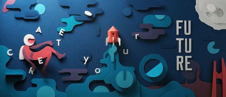Create your Future - Paper Craft by John Ed De Vera | Sky Rye Design