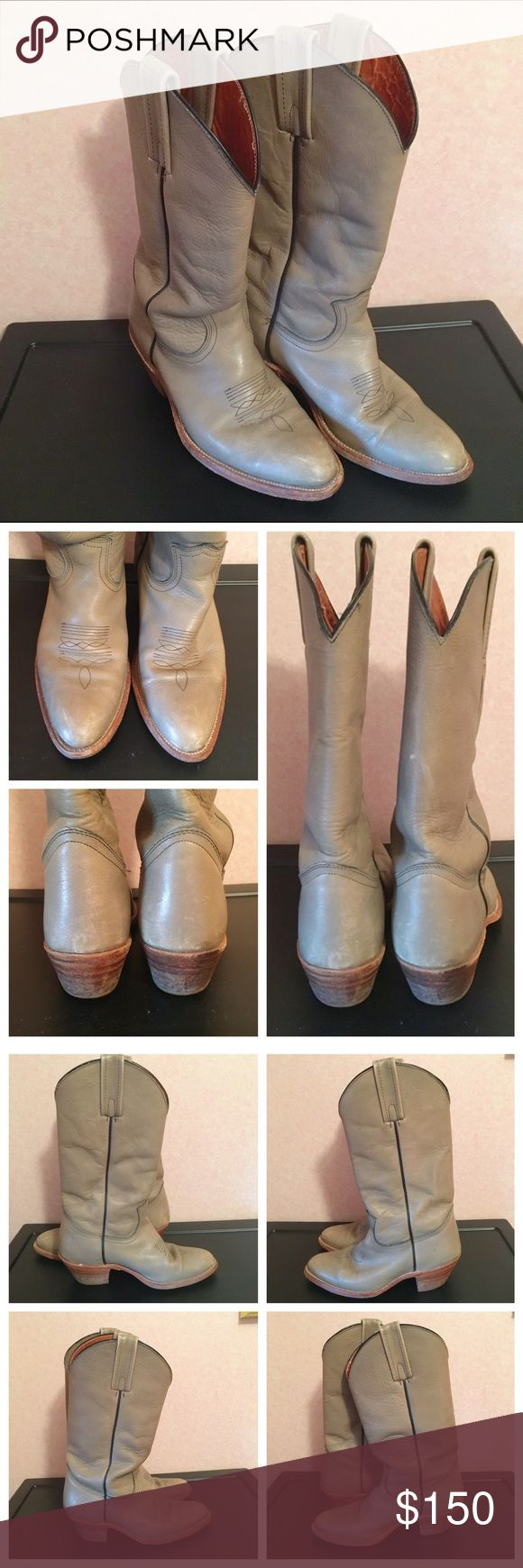 Frye Cowboy Boots Frye cowboy boots in good condition. Some scuffing on soles and some scuffing/wear on outside of boots. Note these are a wide (D) size.  💸 Make an offer using the offer button! I accept all reasonable offers and am always willing to negotiate. 📦 I ship next day unless I'm out of town - I will let you know as soon as you purchase when I'll ship! 🚫 Sorry, I don't trade. Frye Shoes Heeled Boots
