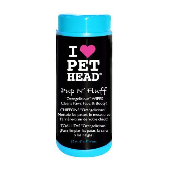 Hygiène pour chien : 50 Lingettes hypoallergéniques Pet Head tres doux pour la peau et le poil