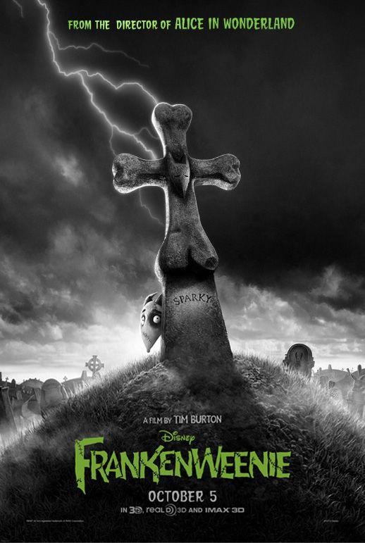 Frankenweenie : affiche du prochain film d'animation de Tim Burton