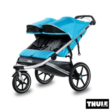 Trouvez Poussette 2 Places dans poussettes chez www.bebelelo.com#thule #thulestroller #bluestroller #jogging #doublestroller #poussettedouble