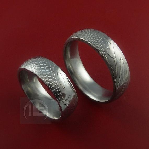 Harley Davidson Wedding Ring Sets 8 Great Damascus wedding ring sets