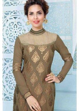 Beige Georgette Salwar Kameez
