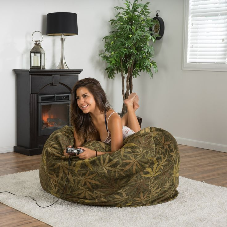 #ad Ariana Hemp/Weed Themed Bean Bag  Accessorize your home with the Ariana Hemp-Themed Bean Bag. Upholstered in soft fabric, this beanbag is a great option to add flare and comfort to your home.   Features:     One (1) Bean Bag    Made of Polyester, Polyurethane foam    Tropical hemp-themed  http://www.shareasale.com/m-pr.cfm?merchantID=69984&userID=1079412&productID=689115311