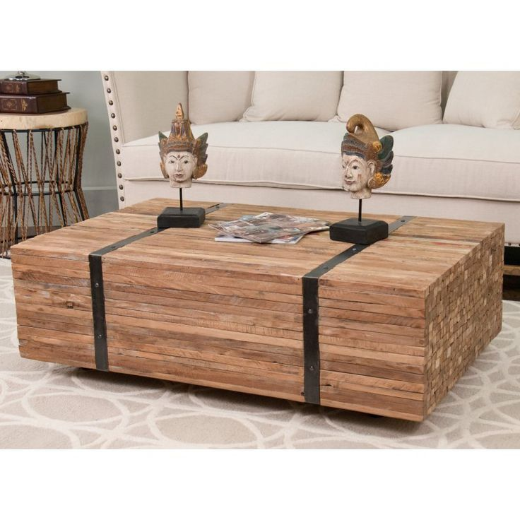 Jeffan Reclaimed Teakwood Rectangular Coffee Table   OR RT407