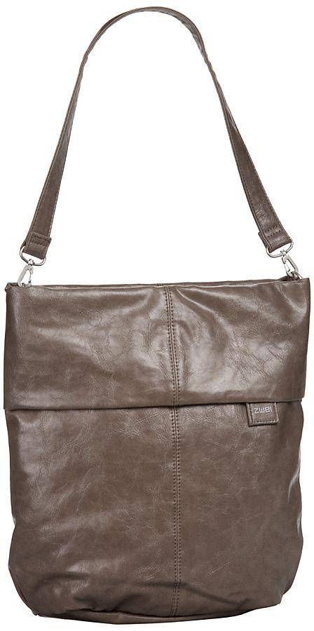 Taschenkaufhaus zwei Mademoiselle M12 Taupe (innen: Braun geblümt) - Handtasche: Category: Taschen & Koffer > Handtaschen > zwei…%#Taschen%