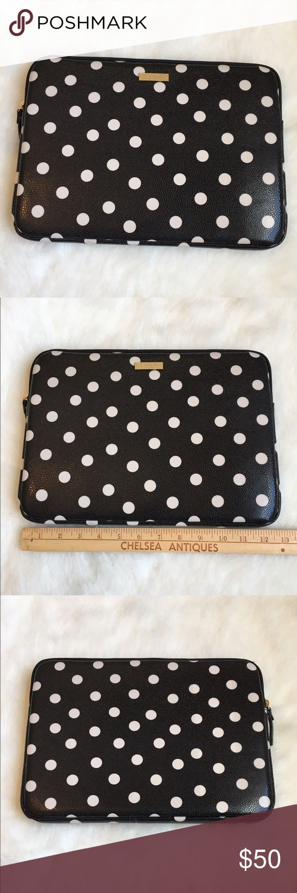 "Kate ♠️ 11"" laptop/Microsoft sleeve This is a Kate Spade laptop/tablet sleeve. It is made for a Microsoft pro 3 and my 11"" also fit inside. (As seen in picture) It is protective against impact and has an easy cleanable outside. 💞BRAND NEW NEVER USED💞🚫NO TRADES🚫 kate spade Accessories Laptop Cases"
