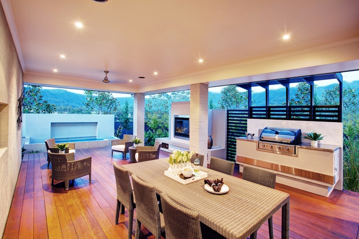Alfresco area, Havana One display home, Brooks Reach #mcdonaldjones #outdoorliving, #bbq
