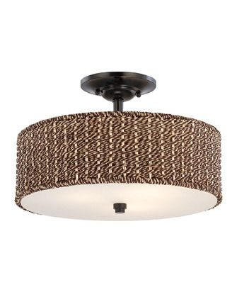 Closeout Lighting | Discount Lighting | Quoizel Lighitng BRB1717K Bradbury Collection Three Light Semi Flush Ceiling Light in Mystic Black Finish