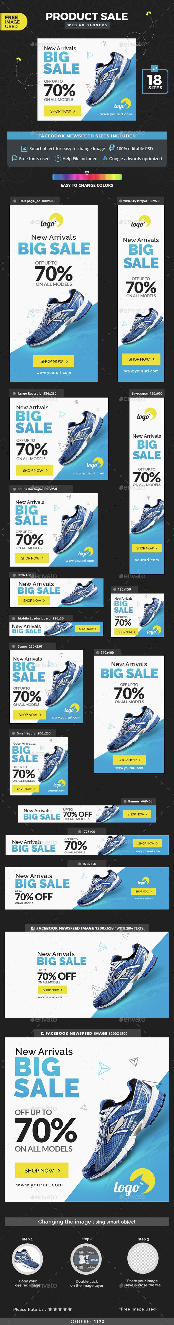 Product Sale Web Banners Template PSD. Download here: http://graphicriver.net/item/product-sale-banners/15175497?ref=ksioks