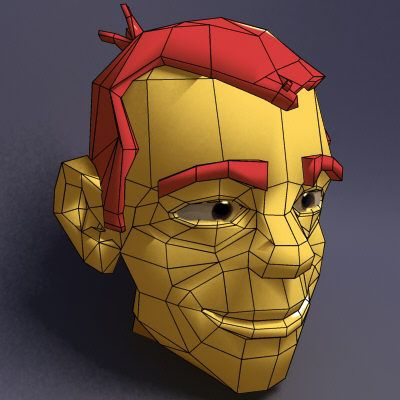 https://flic.kr/p/3fYNmP | Face with edge loops | Model with good edge loops. (From the net)