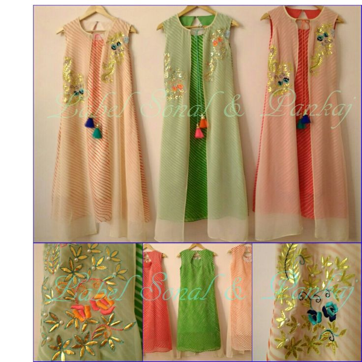 Designer fashion leheriya kurti https sonalandpankaj Fashion embroidery designs