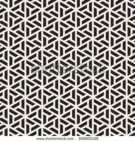 Vector seamless pattern. Modern stylish linear texture. Repeating geometric tiles with trapezoidal elements. - stock vector