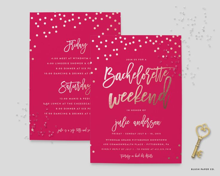 Best 25 Bachelorette itinerary ideas – Make Your Own Bachelorette Party Invitations