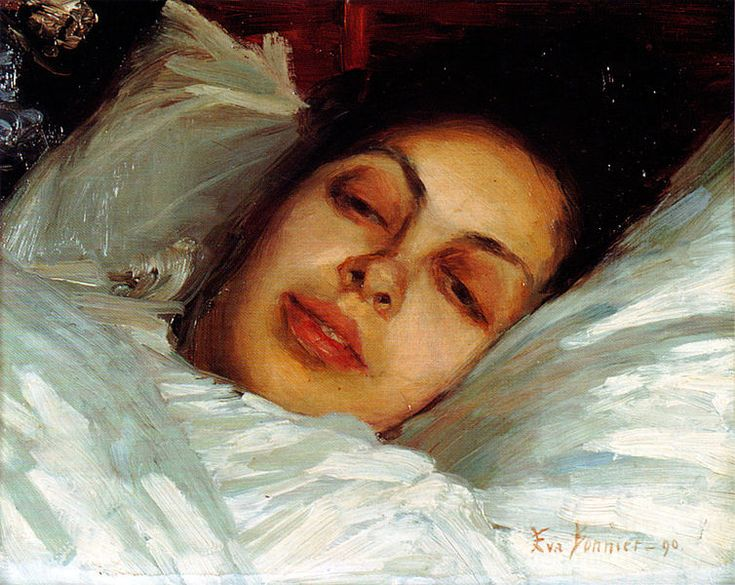 The Convalescent by Eva Bonnier, Swedish artist, 1890, via #wikimedia. File:Eva Bonnier 3.jpg