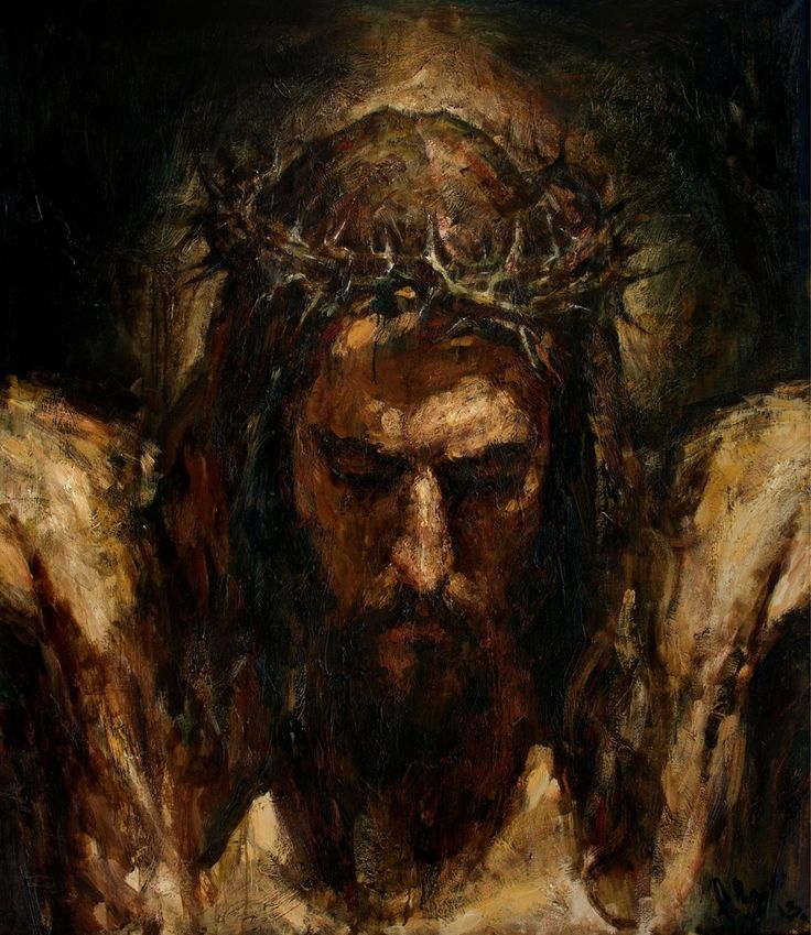 """Crucifix"", 160x145 cm, oil on canvas,2013 Anatoly Shumkin"