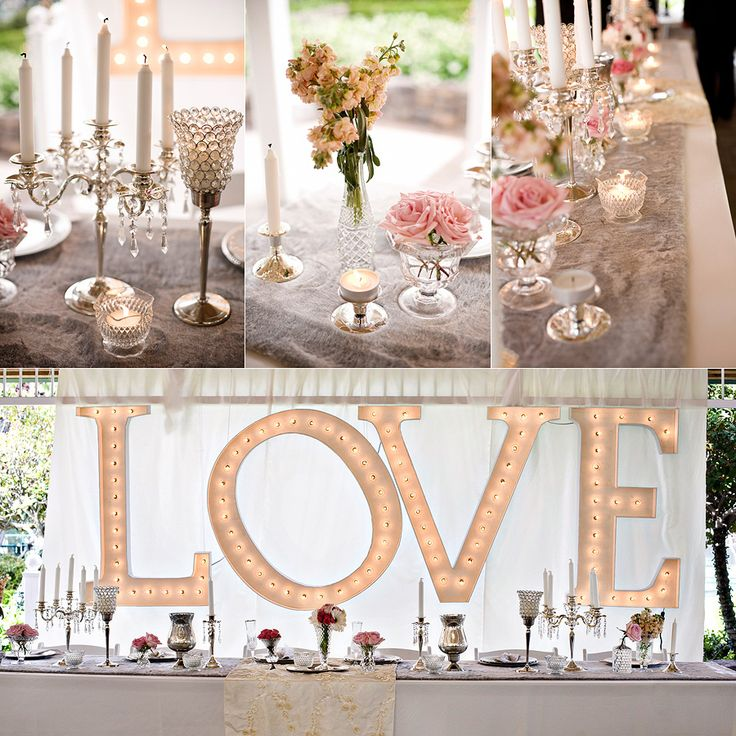 A vintage glam wedding like this is guaranteed to take people's breath away! #wedding #vintage #glam #events #tablescape