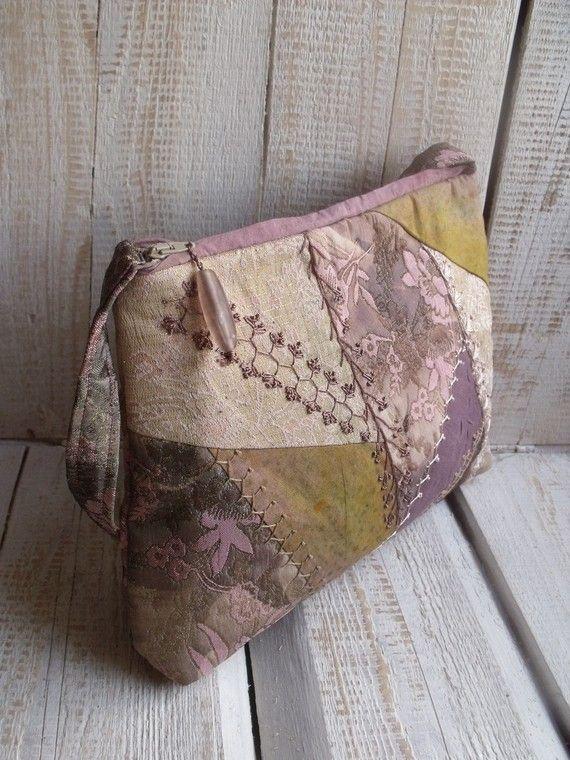 Crazy quilt shoulder bag by diohej on Etsy, $42.00