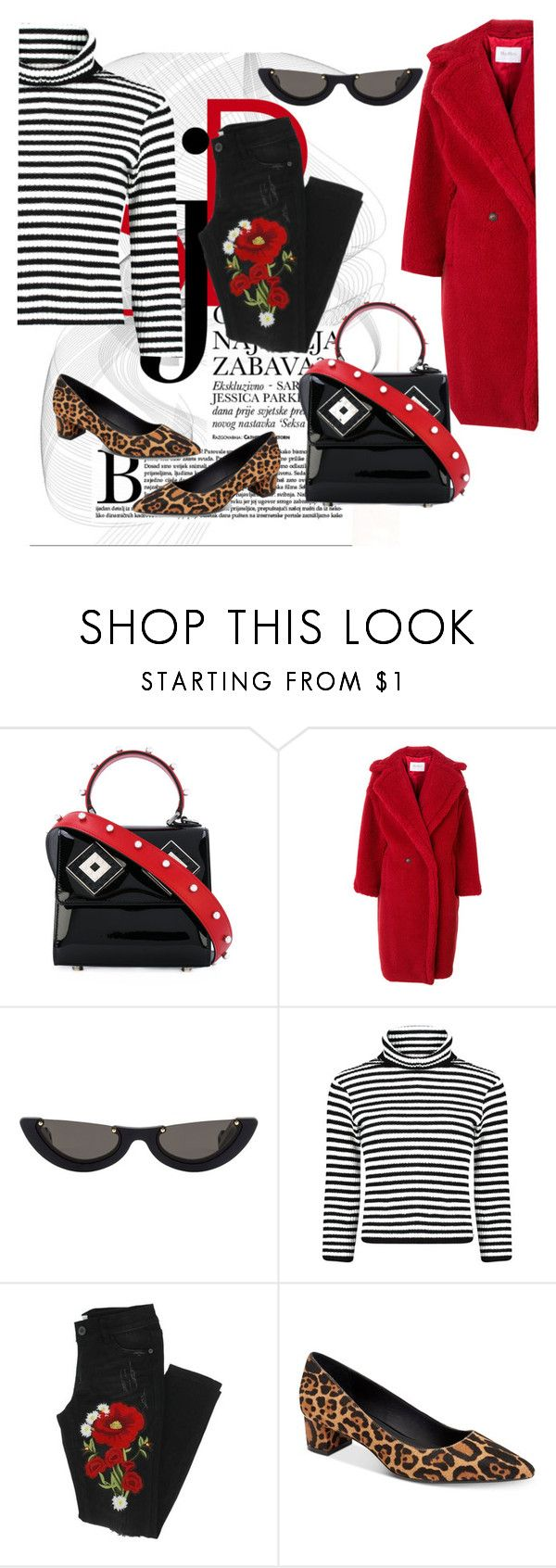 """""""Folded Pants"""" by saddenseven ❤ liked on Polyvore featuring Les Petits Joueurs, MaxMara, PAWAKA and Calvin Klein"""