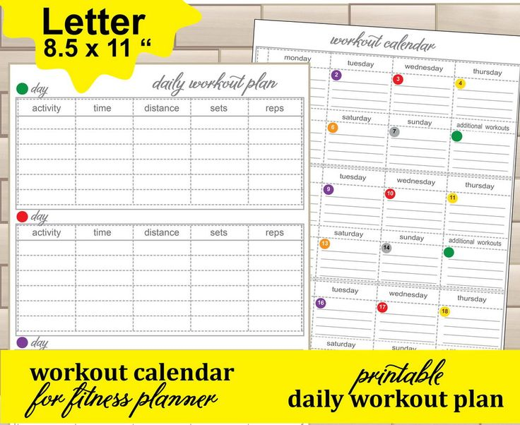 Fitness Exercise PlanWorkout Tracker Workout Plan Workout Log