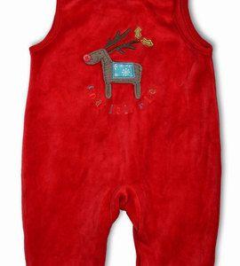 Śpioszki z czerwonego pluszu 0 - 3 m-ce http://dzieciociuszek.pl/products/28537