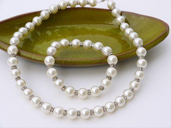 Pearl Bridal Jewelry Set Wedding Jewelry Set by DesignByIrenne