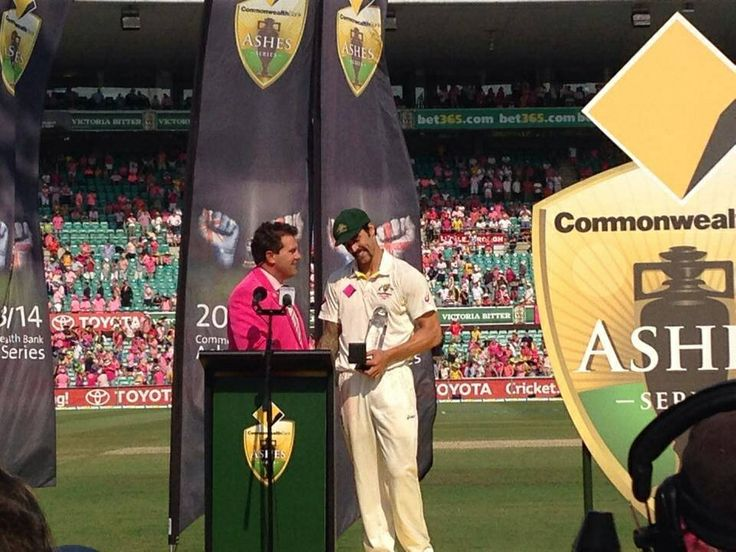 Mitchell Johnson named Man of the Series. Return of the Urn.