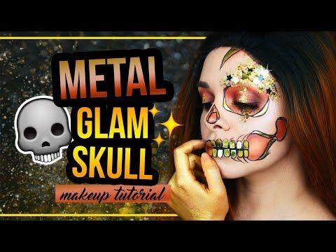 METAL GLAM HALF SKULL - Halloween Makeup Tutorial Last Minute (deutsch) #spooktober http://makeup-project.ru/2017/10/30/metal-glam-half-skull-halloween-makeup-tutorial-last-minute-deutsch-spooktober/