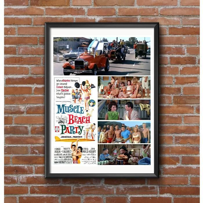 Muscle Beach Party 1964 Poster – Frankie Annette Hot Rods Dick Dale Surfing by MyGenerationShop on Etsy