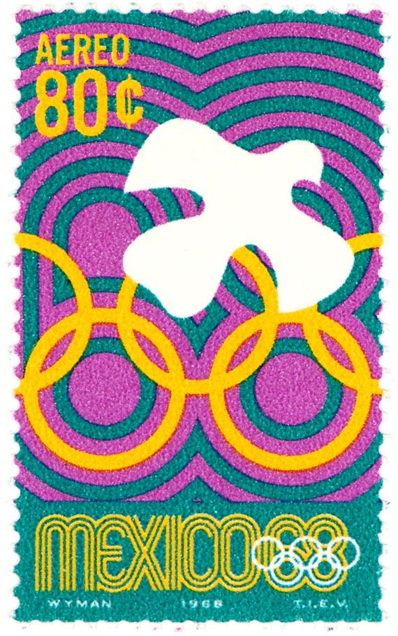 ♥ ◙ Mexico, Postage Stamp 1968. ◙